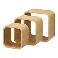 Lot de 3 cubes chêne Cusko Form