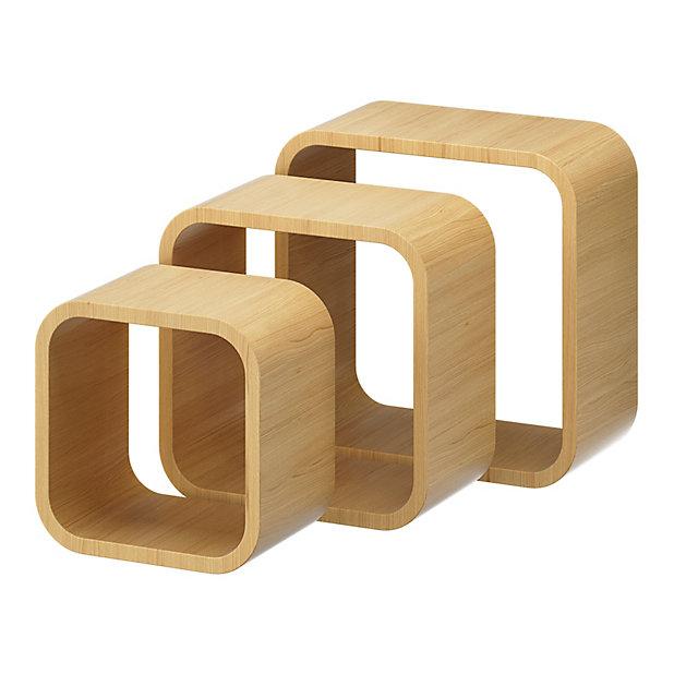 Lot De 3 Cubes Chene Cusko Form Castorama