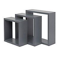 Lot de 3 cubes Gris Rigga Form