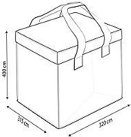 Lot de 3 sacs de tri selectif GoodHome Anise 2 sacs 18 L + 1 sac 36 L