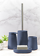 Lot de 4 accessoires de salle de bains Allibert Allure bleu baltique