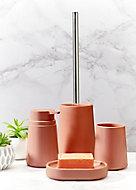 Lot de 4 accessoires de salle de bains Allibert Allure terracotta