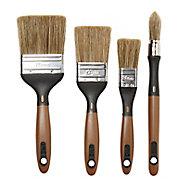 Lot de 4 pinceaux Diall lasures et traitement du bois
