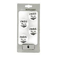 Lot poignées 4 boutons céramique Paris N°15