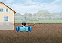 Lot récupérateur d'eau de pluie jardin confort Flat Graf 3000 L