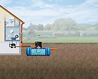 Lot récupérateur d'eau de pluie maison premium Flat Graf 3000 L