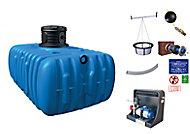 Lot récupérateur d'eau de pluie maison premium Flat Graf 5000 L