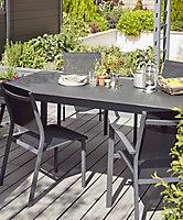Lot table de jardin Sumatra + 4 chaises de jardin Batz + 2 fauteuils de jardin Batz