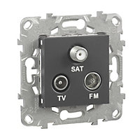 Mécanisme prise TV-FM-SAT SCHNEIDER ELECTRIC anthracite