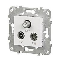 Mécanisme prise TV-FM-SAT SCHNEIDER ELECTRIC blanc