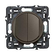 Mécanisme va-et-vient + poussoir Legrand Céliane graphite