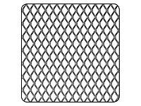 Métal déployé acier grille 1000 x 500 mm