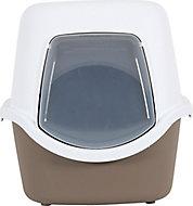 Maison de toilette avec tiroir amovible Clever taupe