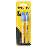 Marqueur à pointe fine bleu Stanley - 2 pièces