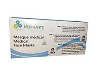 Masque chirurgical jetable type I EN14683, lot de 50