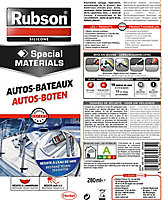 Mastic Autos & Bateaux transparent 280ml