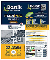 Mastic colle Bostik Flexpro PU 811 marron 300ml