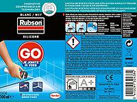 Mastic sanitaire Go Rubson blanc aérosol 100 ml