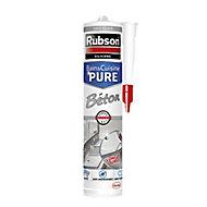 Mastic silicone bain et cuisine Rubson Béton 280 ml