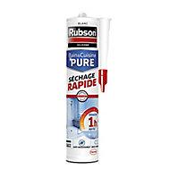 Mastic silicone bain et cuisine Speed Rubson blanc 280ml