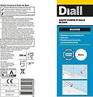 Mastic silicone sanitaire Diall blanc 300ml