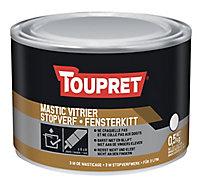 Mastic vitrier blanc Toupret 0,5 kg