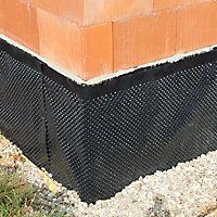Membrane de protection soubassement Monarflex Monarfondation 1 x 20m (vendu au rouleau)