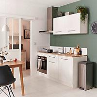 Meuble de cuisine blanc l.180 cm + plan de travail