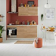 Meuble de cuisine effet chêne l. 180 cm sans électroménager + plan de travail