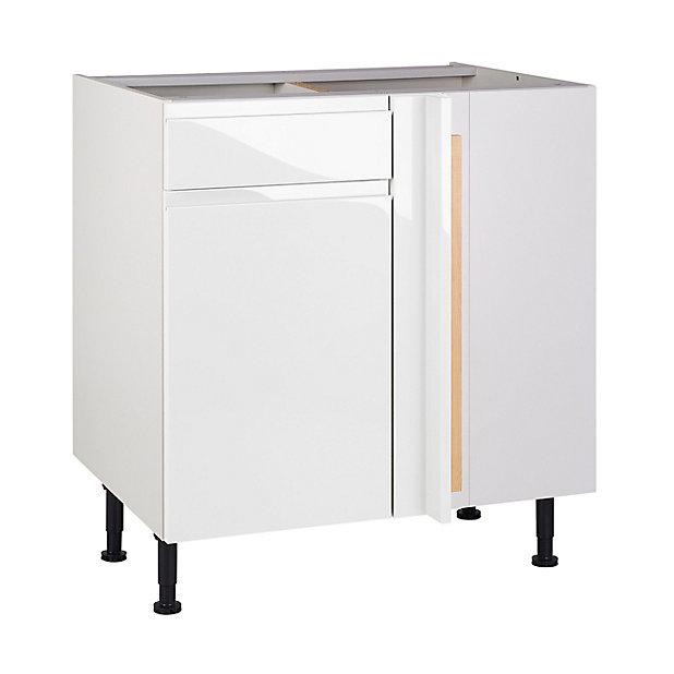 Meuble De Cuisine Epura Blanc D Angle Facade 1 Porte 1 Tiroir Kit Fileur Caisson Bas L 80 Cm Castorama