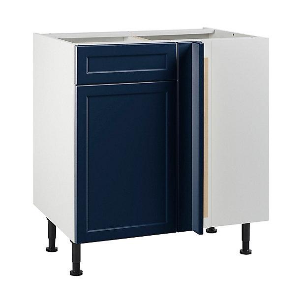 Meuble De Cuisine Fog Bleu Nuit D Angle Facade 1 Porte Kit Fileur Caisson Bas L 80 Cm Castorama