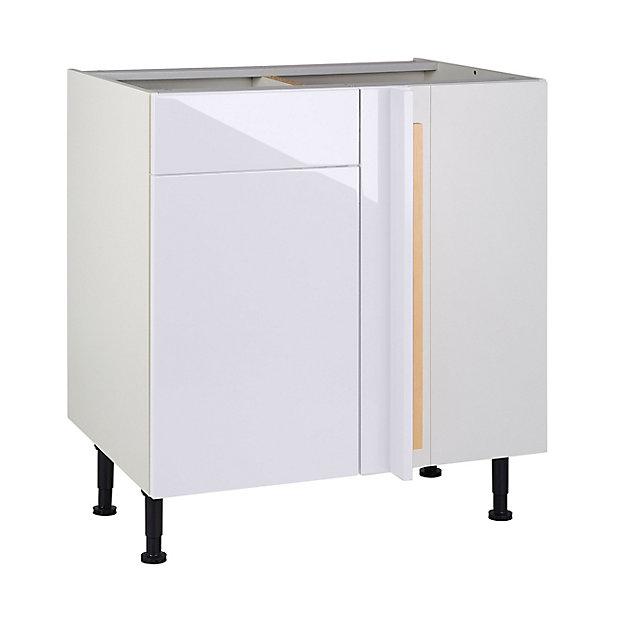 Meuble De Cuisine Gossip Blanc D Angle Facade 1 Porte Kit Fileur Caisson Bas L 80 Cm Castorama