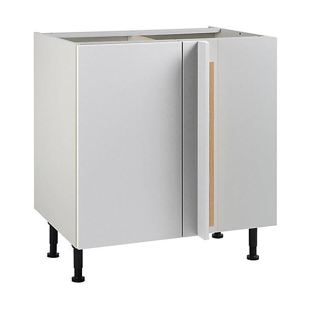 Meuble De Cuisine Ice Blanc D Angle Facade 1 Porte 1 Tiroir Kit Fileur Caisson Bas L 80 Cm Castorama