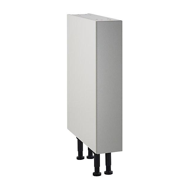 meuble de cuisine ice inox facade 1 porte caisson bas l 15 cm