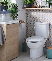 Meuble lave mains à poser GoodHome Imandra bois L.44 x H.79 cm + plan vasque Beni