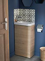 Meuble lave mains à poser GoodHome Imandra bois L.44 x H.79 cm