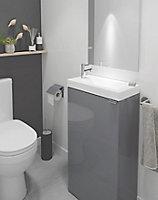 Meuble lave mains à poser GoodHome Imandra gris L.44 x H.79 cm