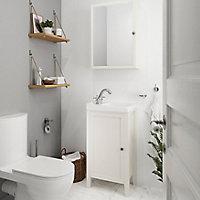 Meuble lave mains à poser GoodHome Perma blanc 44 cm