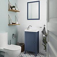Meuble lave mains à poser GoodHome Perma bleu 44 cm
