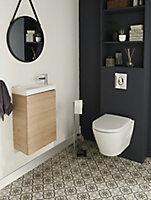 Meuble lave mains à suspendre GoodHome Imandra bois L.44 x H.55 cm