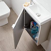 Meuble lave mains à suspendre GoodHome Imandra taupe L.44 x H.55 cm