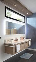 Meuble sous vasque Cooke&Lewis Bélice grège 105 cm