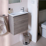Meuble sous vasque lave-mains décor chêne clair Cooke & Lewis Calao 45 cm