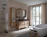 Meuble sous vasque à poser Cooke & Lewis Harmon chêne massif 140 cm