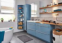 Meuble sous vasque à poser GoodHome Imandra bleu 60 cm + plan de toilette Hartland