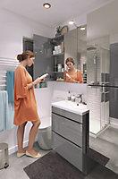 Meuble sous vasque à poser GoodHome Imandra gris 60 cm