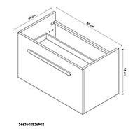 Meuble sous-vasque à suspendre GoodHome Adriska blanc L. 80 x H. 48 x P. 45 cm