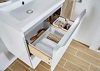 Meuble sous vasque à suspendre GoodHome Imandra blanc 60 cm