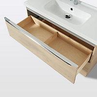 Meuble sous vasque à suspendre GoodHome Imandra bois 100 cm