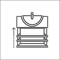 Meuble sous vasque à suspendre GoodHome Imandra gris 60 cm